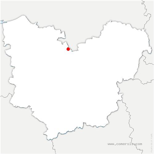 carte de localisation de Thuit-Anger