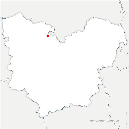 carte de localisation de Thuit-Hébert