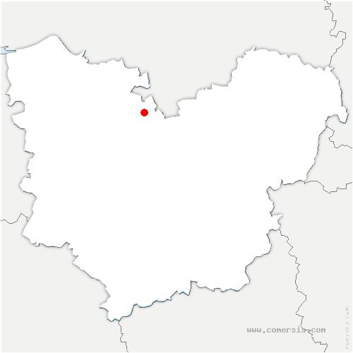 carte de localisation de Thuit-Simer
