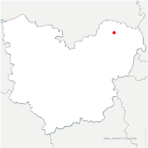 carte de localisation de Touffreville