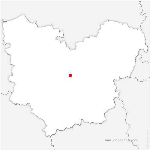 carte de localisation de Tournedos-Bois-Hubert