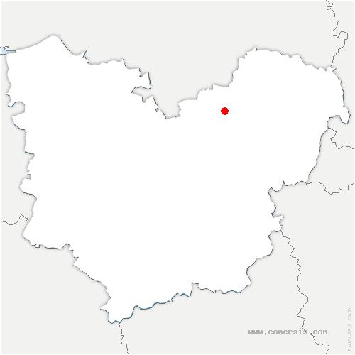 carte de localisation de Tournedos-sur-Seine
