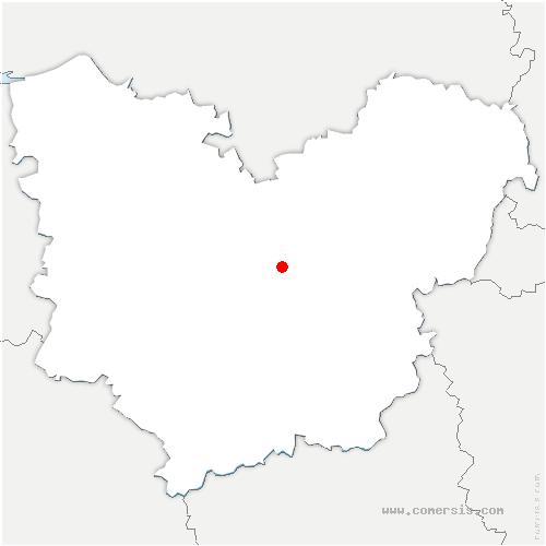 carte de localisation de Tourneville