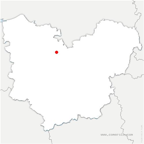 carte de localisation de Tourville-la-Campagne