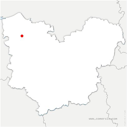 carte de localisation de Tourville-sur-Pont-Audemer