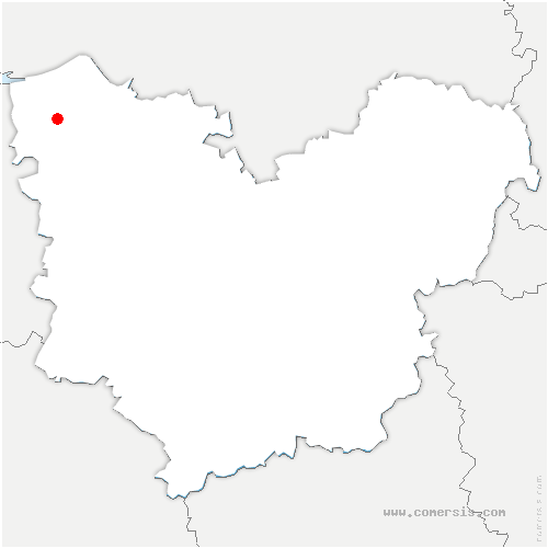 carte de localisation de Toutainville