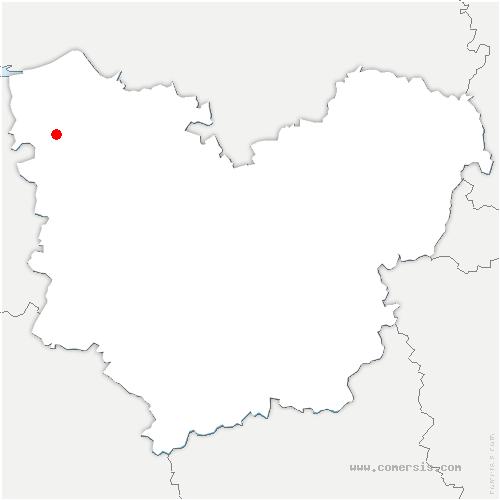 carte de localisation de Triqueville