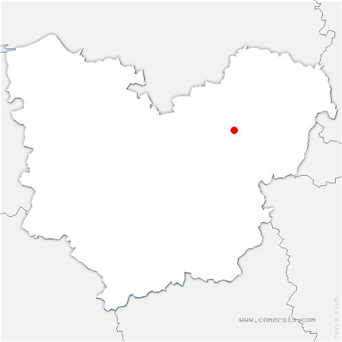 carte de localisation de Trois Lacs