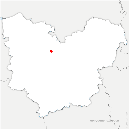 carte de localisation de Troncq