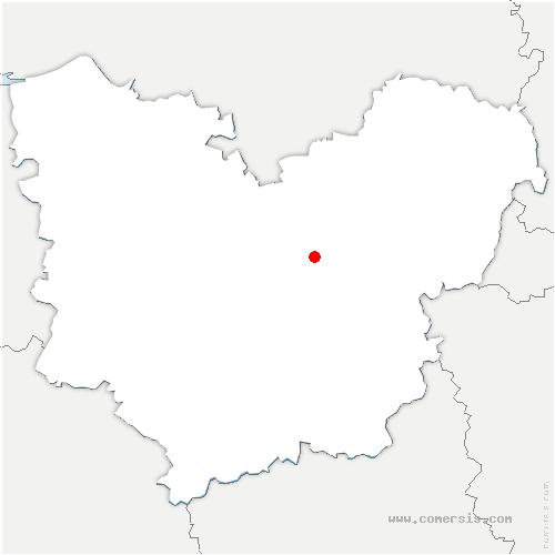 carte de localisation de Vacherie