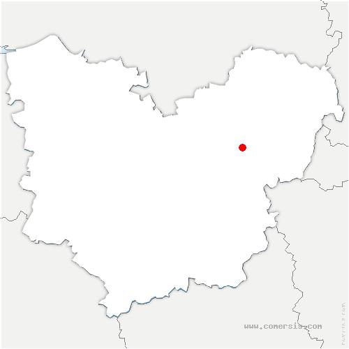 carte de localisation de Val-d'Hazey