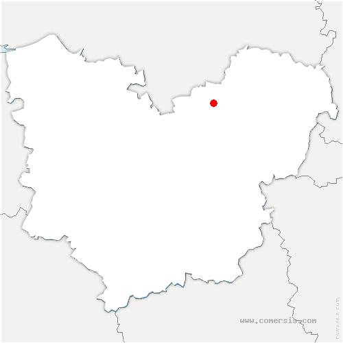 carte de localisation de Val-de-Reuil