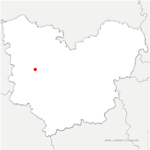 carte de localisation de Valailles