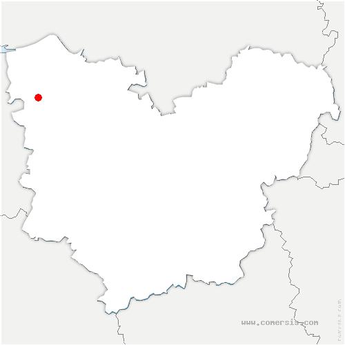 carte de localisation de Vannecrocq