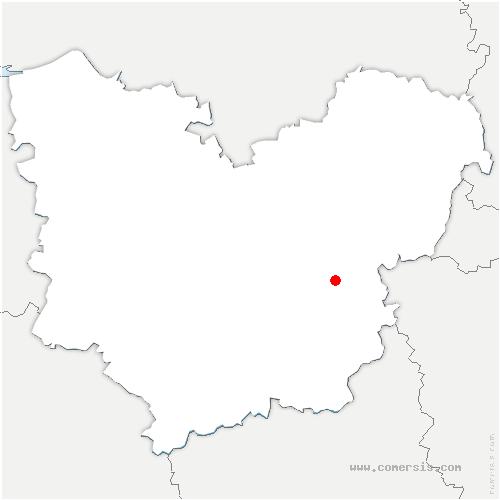 carte de localisation de Vaux-sur-Eure