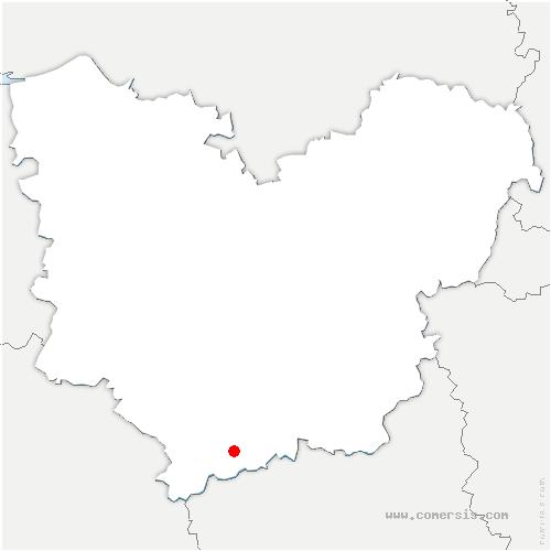 carte de localisation de Verneuil d'Avre et d'Iton
