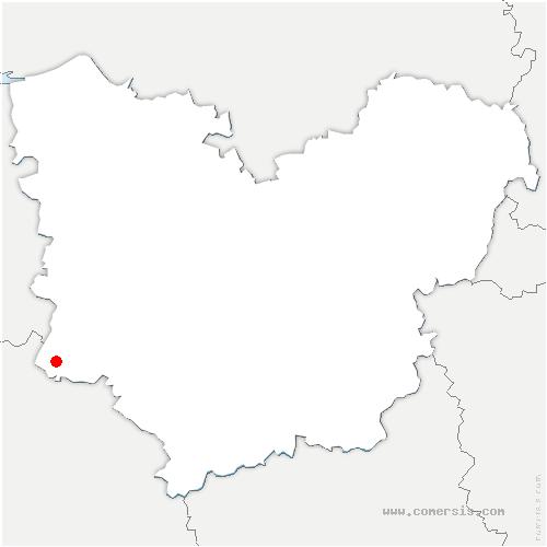 carte de localisation de Verneusses