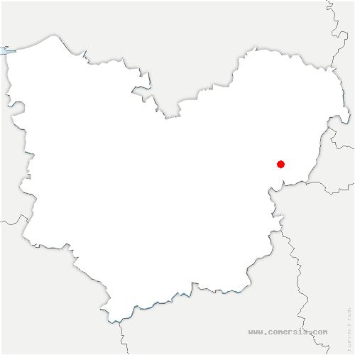 carte de localisation de Vernon