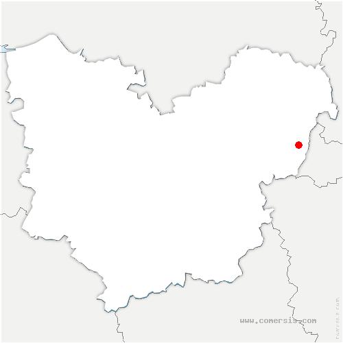 carte de localisation de Vexin-sur-Epte