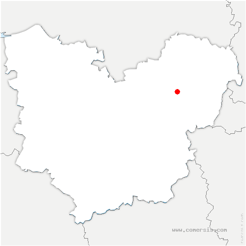 carte de localisation de Vézillon