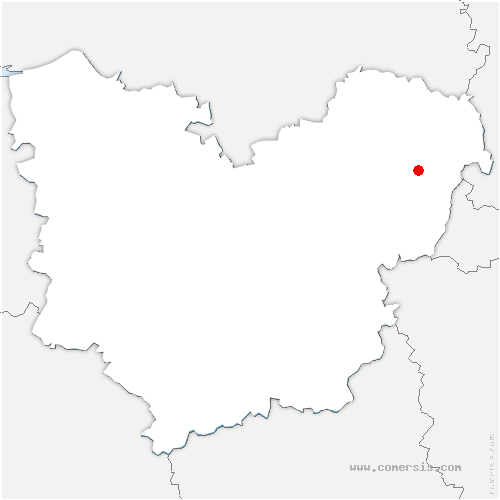 carte de localisation de Villers-en-Vexin
