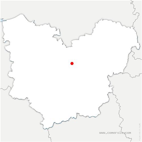 carte de localisation de Villettes