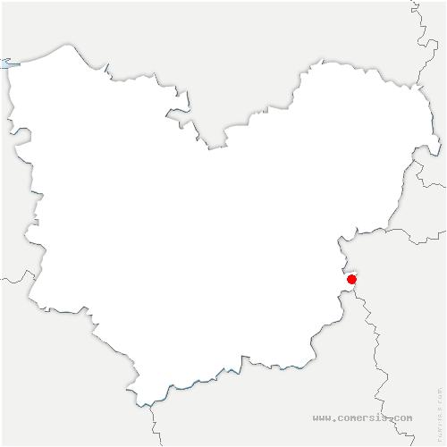 carte de localisation de Villiers-en-Désœuvre