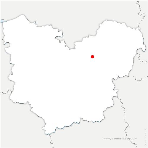 carte de localisation de Vironvay