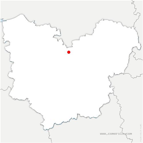 carte de localisation de Vraiville