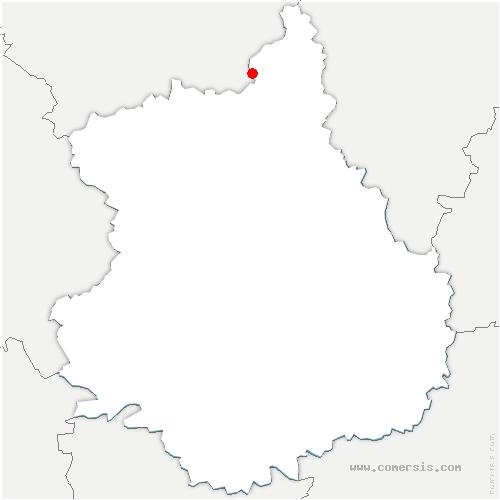 carte de localisation de Abondant