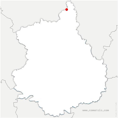 carte de localisation de Anet