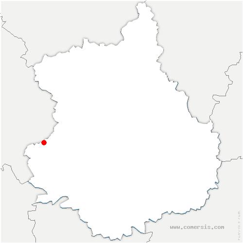 carte de localisation de Arcisses