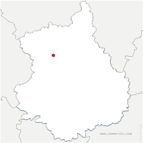 carte de localisation de Ardelles