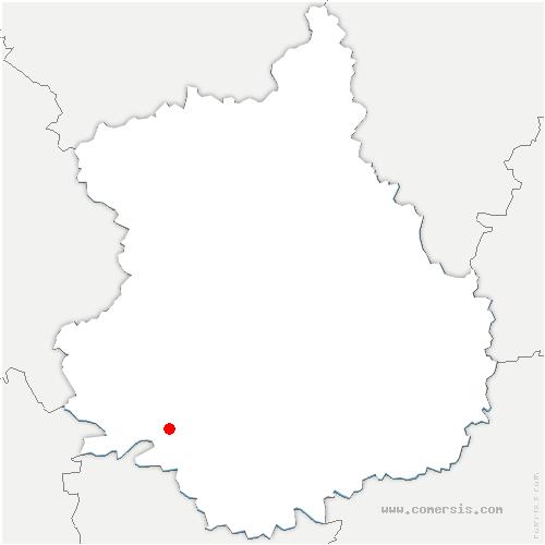 carte de localisation de Arrou