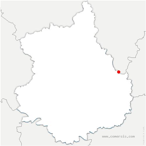 carte de localisation de Aunay-sous-Auneau