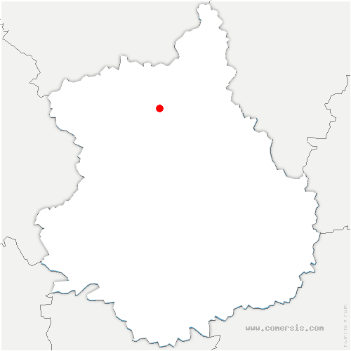 carte de localisation de Aunay-sous-Crécy