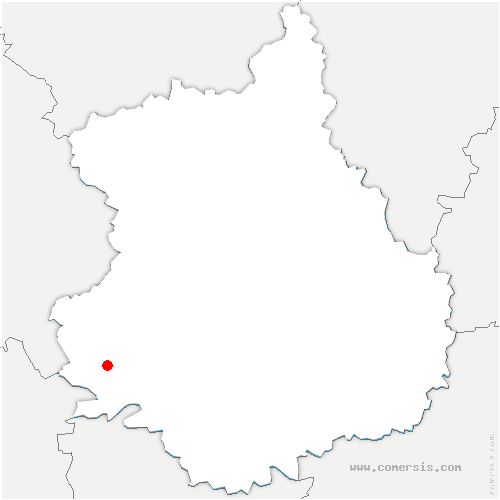 carte de localisation de Authon-du-Perche
