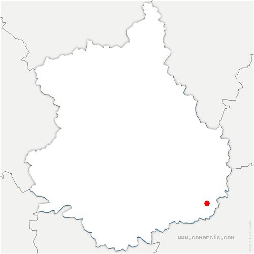 carte de localisation de Baigneaux
