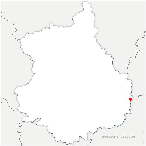 carte de localisation de Barmainville