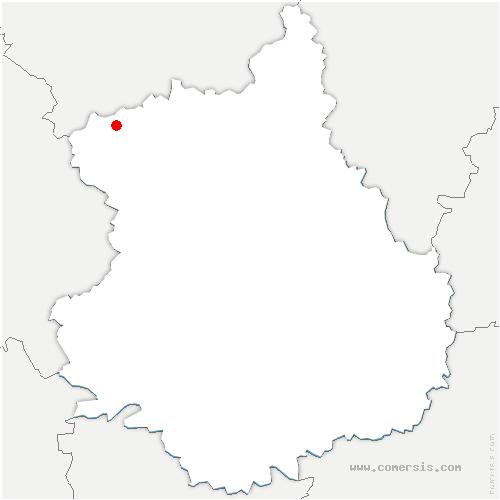 carte de localisation de Beauche