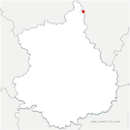 carte de localisation de Berchères-sur-Vesgre