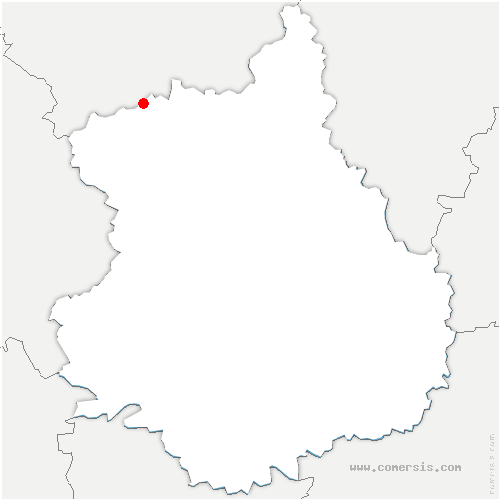 carte de localisation de Bérou-la-Mulotière