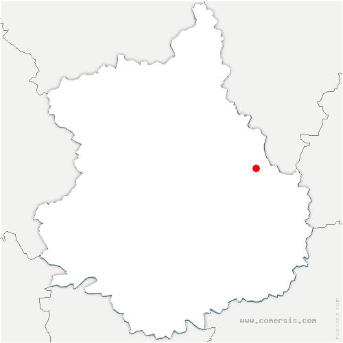 carte de localisation de Béville-le-Comte
