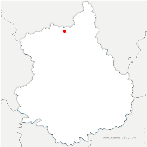 carte de localisation de Boissy-en-Drouais
