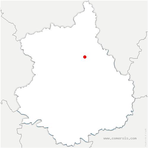 carte de localisation de Bouglainval
