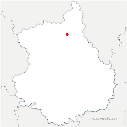 carte de localisation de Boullay-Mivoye