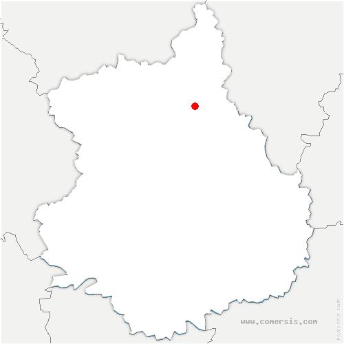 carte de localisation de Boullay-Thierry