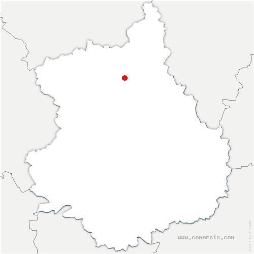 carte de localisation de Boullay-les-Deux-Églises