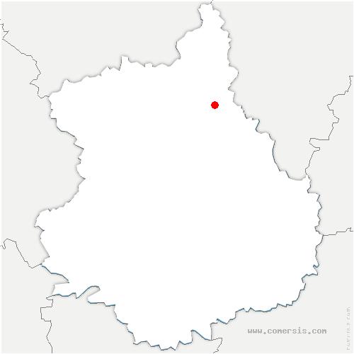 carte de localisation de Bréchamps