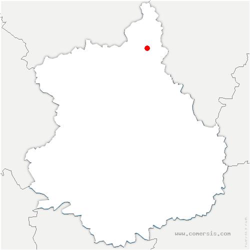 carte de localisation de Broué